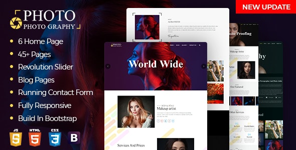 CamShot - Photography Personal Portfolio HTML Template - Photography Creative