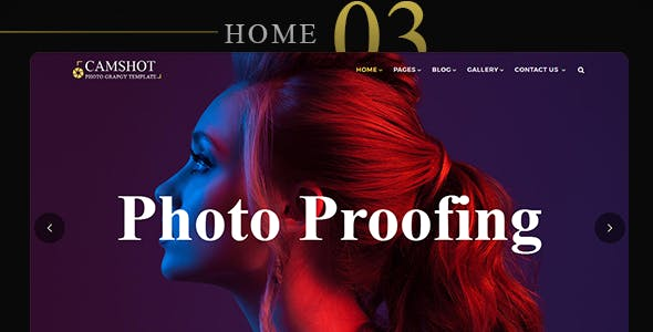 CamShot - Photography Personal Portfolio HTML Template