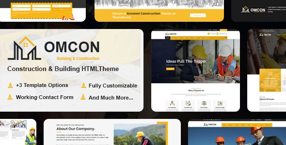 Omcon - Construction Responsive HTML5 Template - Corporate Site Templates