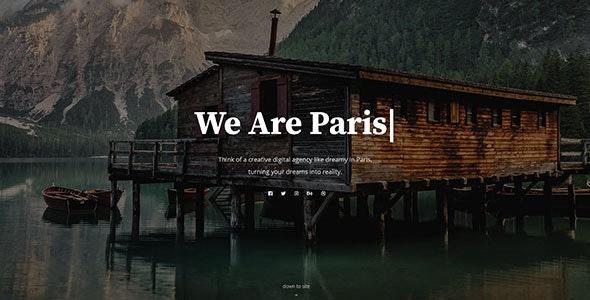Paris - Personal & Agency HTML Template - Portfolio Creative