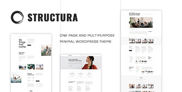 Structura - Minimal One Page Theme - Creative WordPress