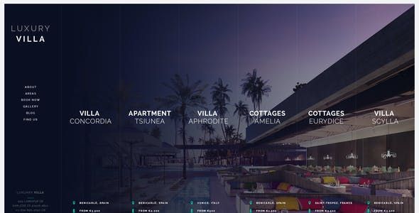 Luxury Villa - Property Showcase WordPress Theme