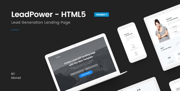 LeadPower - Lead Generation HTML5 Landing Page Template - Marketing Corporate