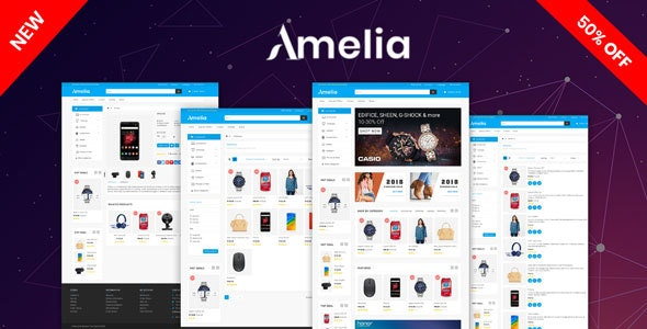 Amelia OpenCart 3.X Multipurpose Theme - Shopping OpenCart