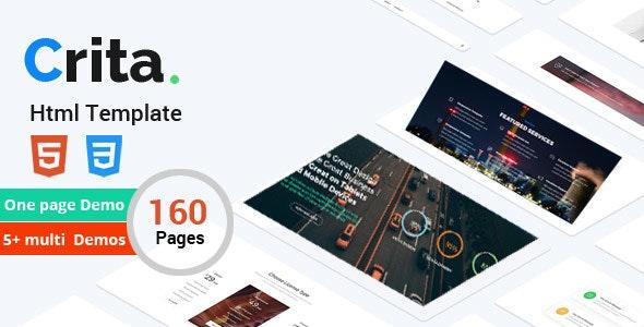 Crita   The Responsive Multi-Purpose HTML Template - Creative Site Templates