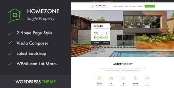 HOME ZONE - Single Property Real Estate WordPress Theme