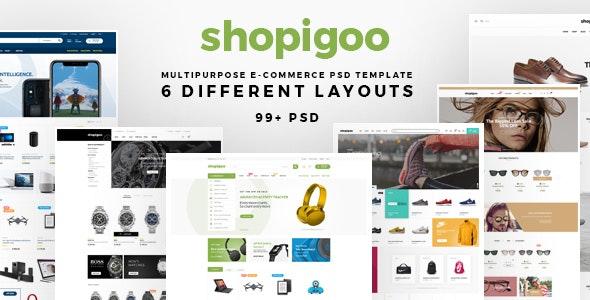 shopigoo - Multiuse eCommerce PSD Template - Shopping Retail