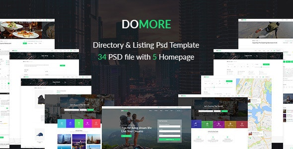 DoMore   Directory & Listing PSD Template - Corporate Photoshop