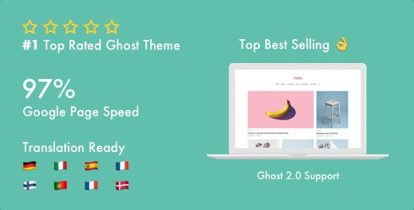 Nubia - Blog and Magazine Ghost Theme - Ghost Themes Blogging
