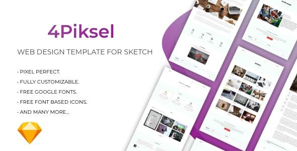 4Piksel - Web Design Company Template - Sketch UI Templates