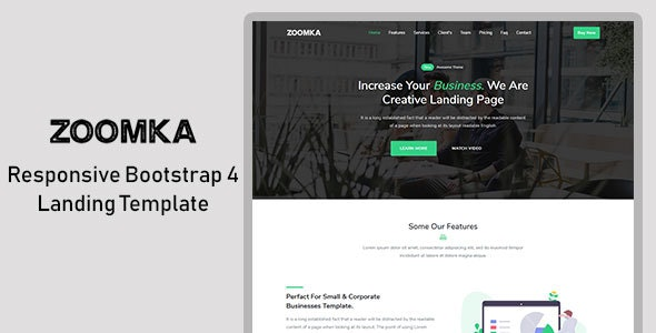 zoomka - Responsive Bootstrap 4 Landing Template - Landing Pages Marketing