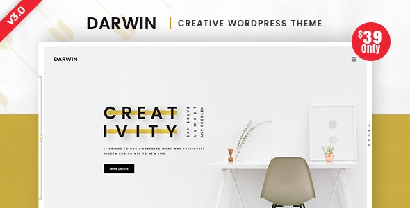 Darwin | Creative WordPress Theme - Creative WordPress