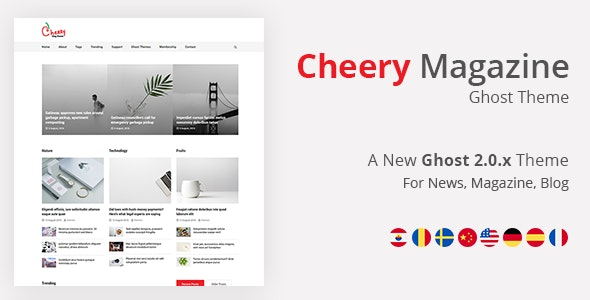Cherry - Ghost Blog and News Magazine Theme - Ghost Themes Blogging
