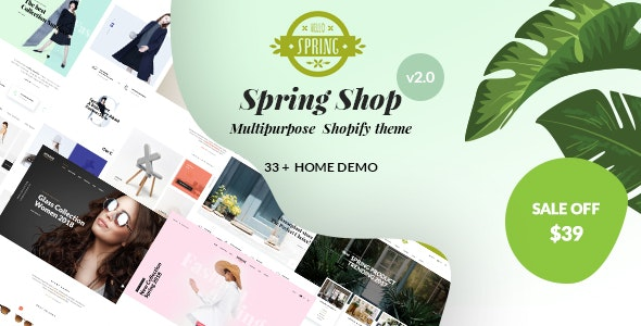 Spring - Multipurpose Shopify Sections Theme - Fashion Shopify