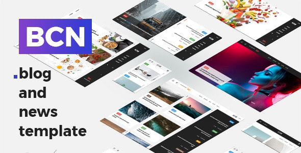 BCN - Clean Blog and News Template - Creative Site Templates
