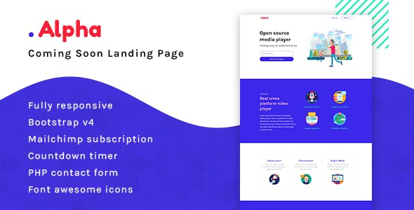 Alpha - Coming Soon Landing Page