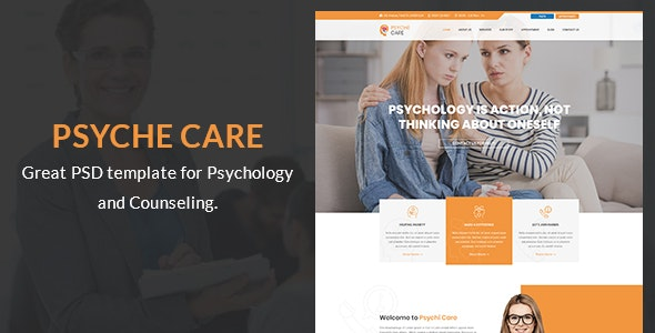 Psyche Care - Counseling PSD Template - Health & Beauty Retail