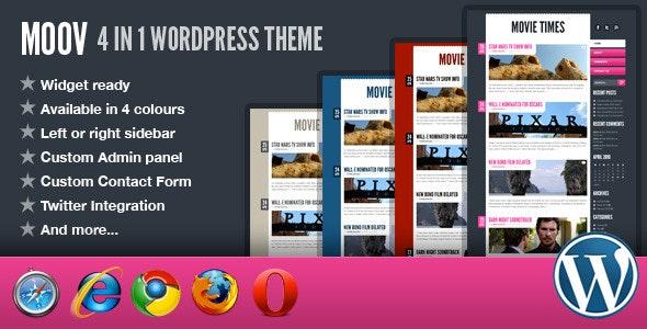 Moov - 4 in 1 Wordpress Theme - Blog / Magazine WordPress