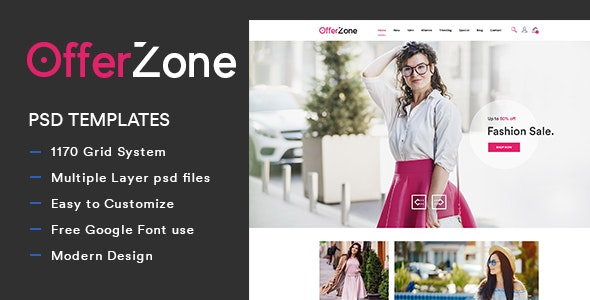 OfferZone - Fashion PSD Templates - Fashion Retail