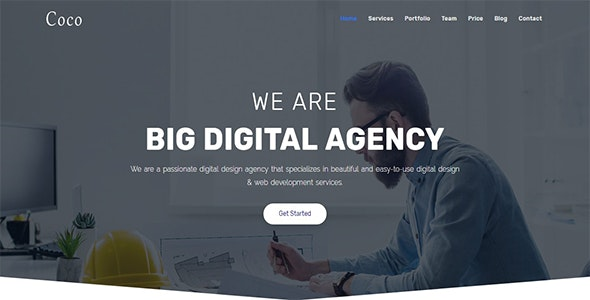 Coco - One Page Parallax - Corporate Site Templates