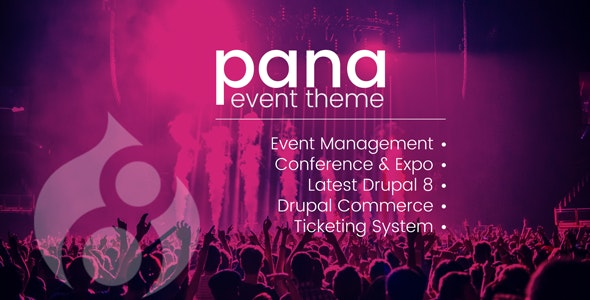 Pana Events Listing and Conference Drupal 8.8 Theme - Drupal CMS Themes
