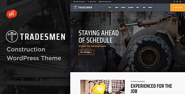 Tradesmen - Construction WordPress Theme - Business Corporate