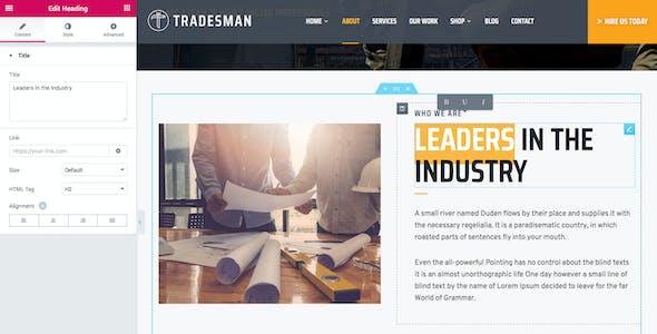 Tradesmen - Construction WordPress Theme