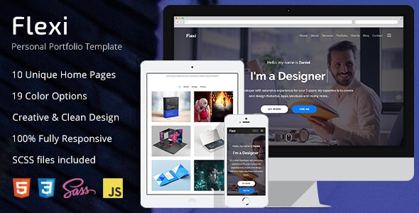 Flexi - Personal Portfolio HTML5 Template - Personal Site Templates