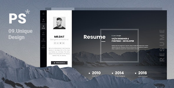 PerStar Personal Vcard HTML Template - Portfolio Creative