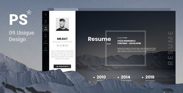 PerStar Personal Vcard HTML Template