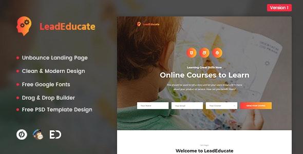LeadEducate - Education Unbounce Landing Page Template - Unbounce Landing Pages Marketing