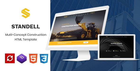 Standell | Multipurpose Construction HTML Template - Business Corporate