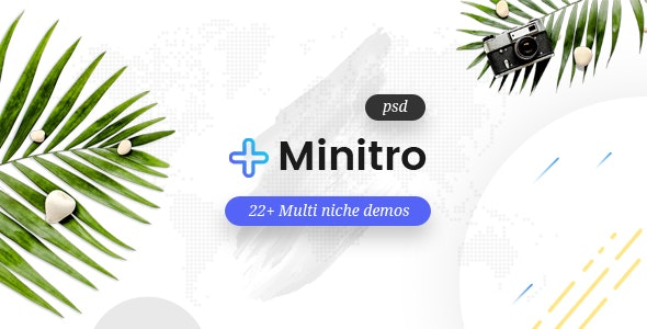 Minitro – Creative Multi-Purpose PSD Template - Corporate Photoshop