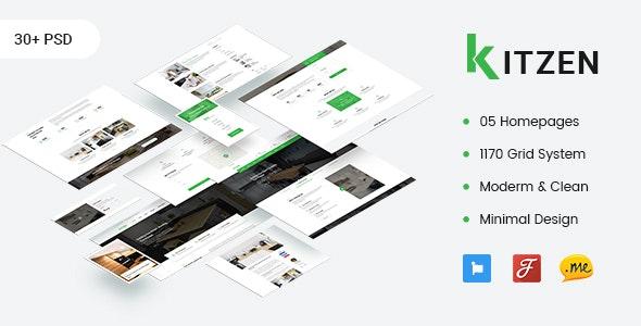 Kitzen | Modern Kitchen PSD Template - Business Corporate