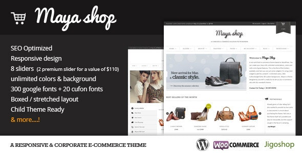MayaShop - A Flexible Responsive e-Commerce Theme - WooCommerce eCommerce