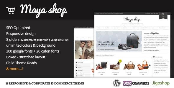 MayaShop - A Flexible Responsive e-Commerce Theme - WooCommerce eCommerce