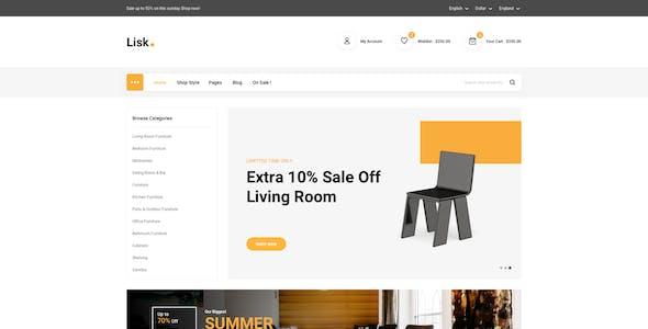 Lisk - Furniture eCommerce Sketch Template