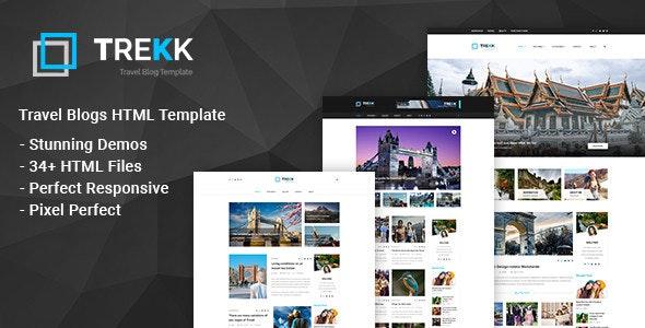 Trekk: Tour and Travel  Blogging HTML Template - Travel Retail