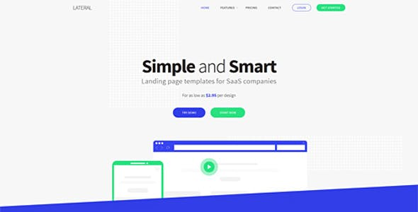 Saas Landing Page Templates From Themeforest