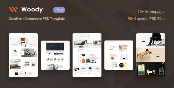 Woody - eCommerce PSD Template - Retail PSD Templates