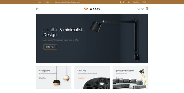 Woody - eCommerce PSD Template