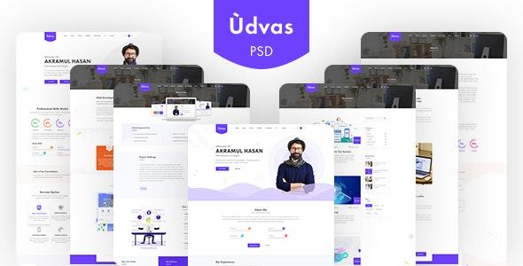 Udvas | Personal Portfolio Templates PSD - Portfolio Creative