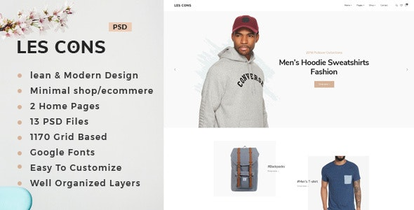 Les Bons : Minimal Shop PSD Template - Shopping Retail