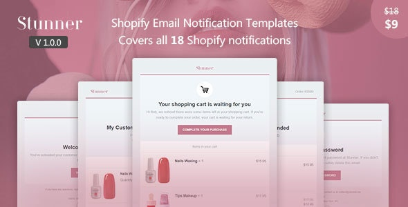 Stunner - Shopify Email Notification Templates - Email Templates Marketing