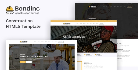 Bending - Clean Construction HTML5 Template - Business Corporate