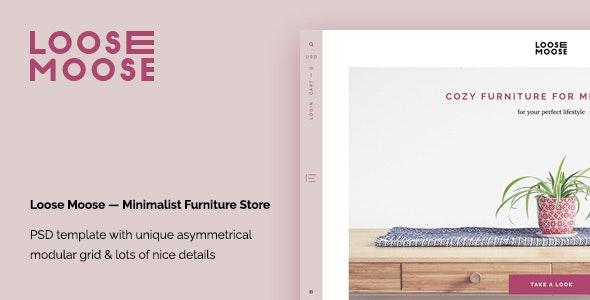 Loose Moose — Minimalist Furniture Store PSD Template - Shopping Retail