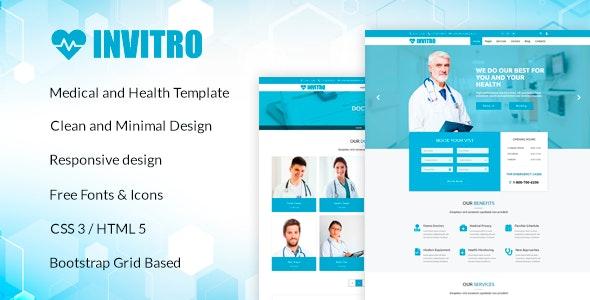 Invitro - Medical and Health HTML Template - Health & Beauty Retail