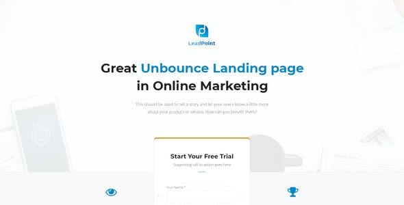 LeadPoint - Lead Generation Unbounce Landing Page Template