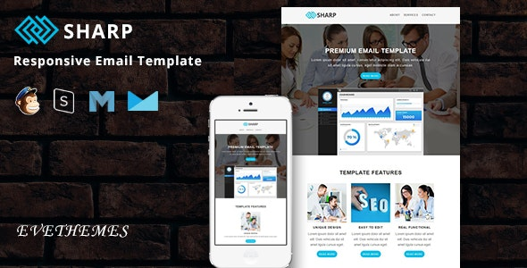 Sharp - Responsive Email Template - Newsletters Email Templates