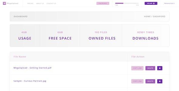 LaraUpload - File Sharing PSD Template